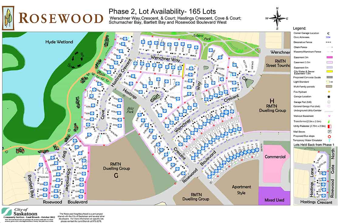 Rosewood Map Vinland Homes